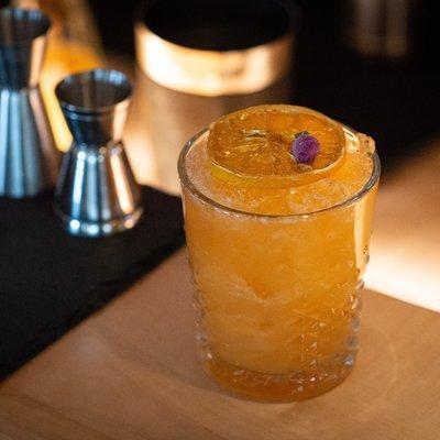 Herbstlicher Cocktail