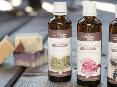 natürliche Seifen und Öle