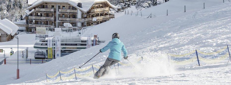 Starten Sie direkt vor der Hoteltüre ins Skivergnügen
