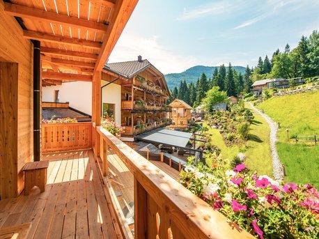 Ausblick vom Zimmer Alpenrose superior