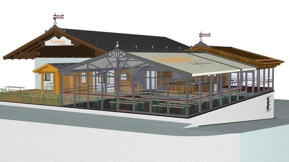 Knapplhütte mit Panorama-Lounge und Treff 1500