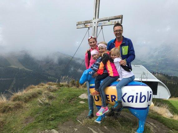 Familie Höflehner Ausflug am HK Gipfel