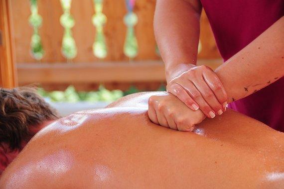 Kräftige Massage