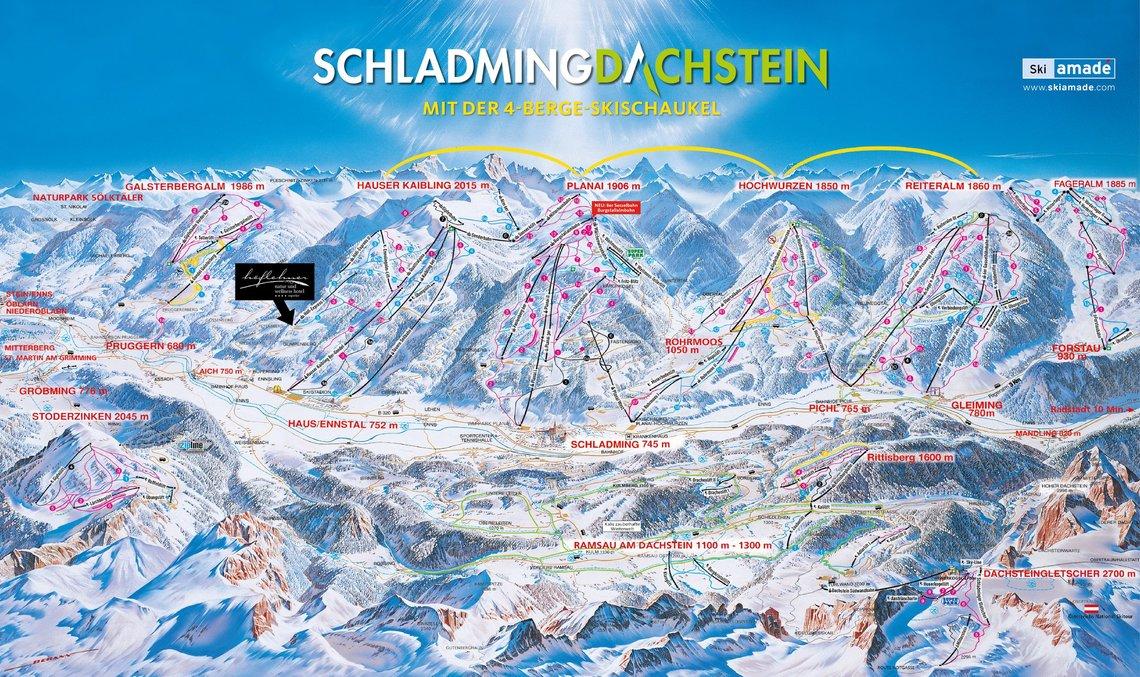 Pistenplan Skiregion Schladming-Dachstein