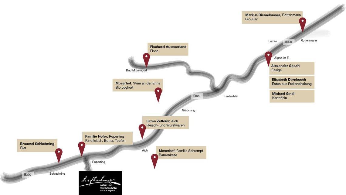 Plan regionale Lieferanten für Homepage