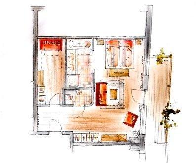 Skizze Bergsonne