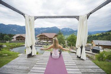 Yoga auf 1.117 m