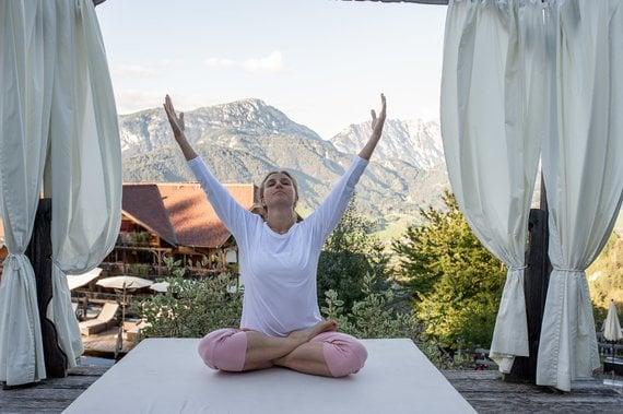 Yoga unter freiem Himmel