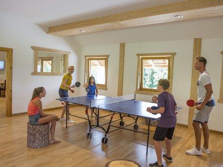 Tischtennis in der Spielealm