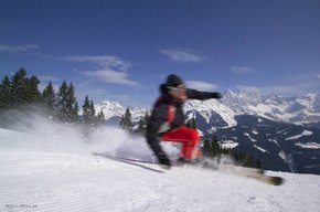 Ski shortcut version at the end of the season