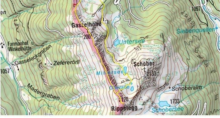 Spiegelsee - Kartenausschnitt