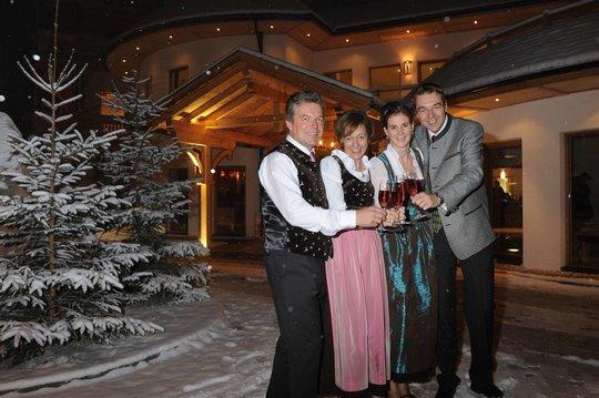 Reinhard, Gerti, Katrin und Gerhard Höflehner
