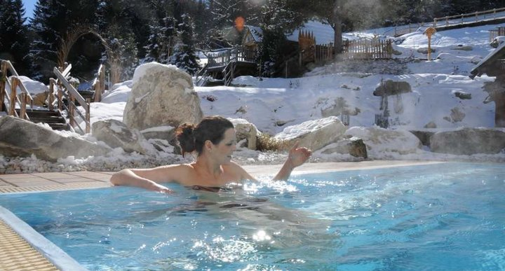 Pool im Winter